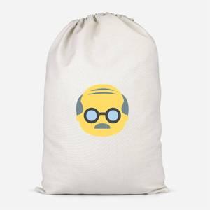 Old Man Face Cotton Storage Bag