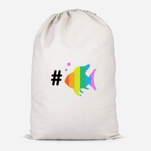 Rainbow Fish Bubble Cotton Storage Bag