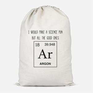 Periodic Pun Cotton Storage Bag