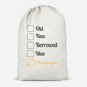 Champagne Tick Box Cotton Storage Bag