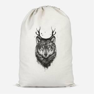 Wolf Cotton Storage Bag