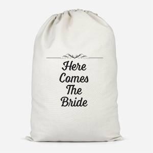 Here Comes The Bride Cotton Storage Bag