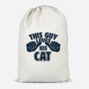 This Guy Loves His Cat Cotton Storage Bag