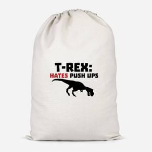 T-Rex Hates Pushups Cotton Storage Bag