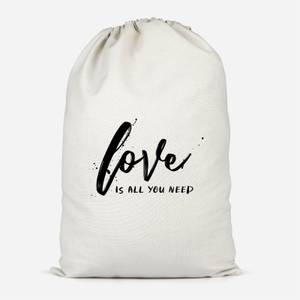 Love Is All You Need Cotton Storage Bag