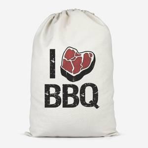 I Love BBQ Cotton Storage Bag