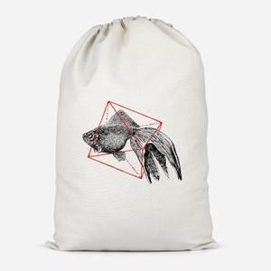 Fish In Geometry Cotton Storage Bag