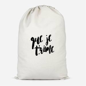 Que Je T??????aime Cotton Storage Bag