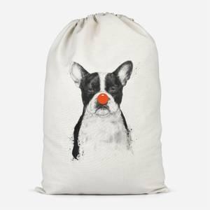 Red Nosed Bulldog Cotton Storage Bag