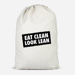 Eat Clean Look Lean Cotton Storage Bag