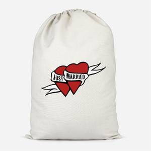 Just Married Cotton Storage Bag