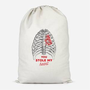 You Stole My Heart Cotton Storage Bag