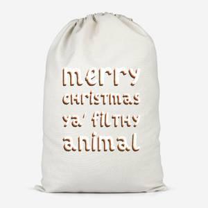 Merry Christmas Ya' Filthy Animal Cotton Storage Bag