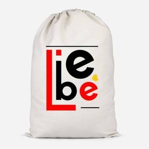 Liebe Block Cotton Storage Bag