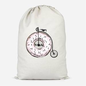 Donut Ride My Bicycle Cotton Storage Bag