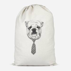 Suited And Booted Bulldog Cotton Storage Bag