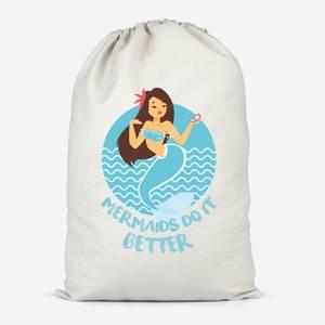 Mermaids Do It Better Cotton Storage Bag