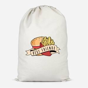 Fast Food Friends Cotton Storage Bag