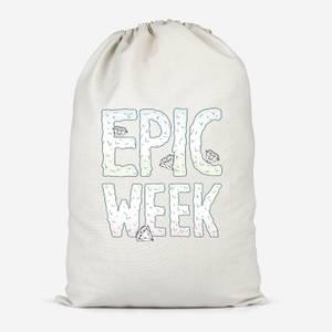 Epic Week Cotton Storage Bag