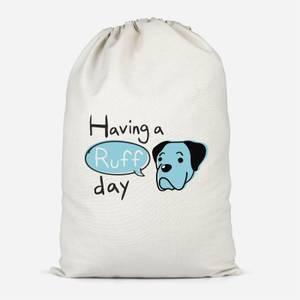 Having A Ruff Day Cotton Storage Bag