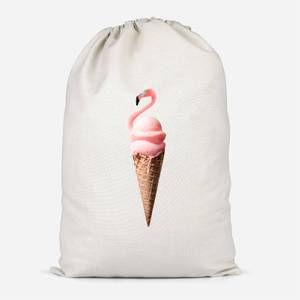 Flamingo Ice Cream Cotton Storage Bag