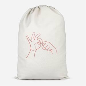 Sexy Hand Gesture Cotton Storage Bag