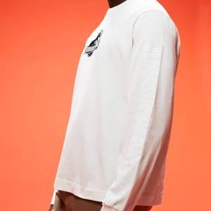 Jurassic Park Primal Logo Brodé Unisexe Manche Longue T-Shirt - Couleur Crème