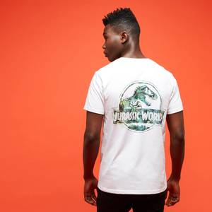 Jurassic Park Primal Leaf Print Logo T-Shirt - White