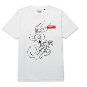 Looney Tunes ACME Capsule Wile E. Coyote Outline T-Shirt - Weiß