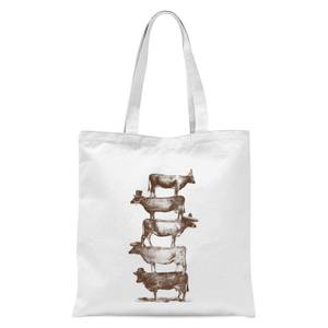 Cow Cow Nuts Tote Bag - White
