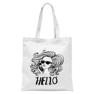 Hello Tote Bag - White