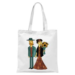 Love Is Art - Frida Kahlo And Van Gogh Tote Bag - White