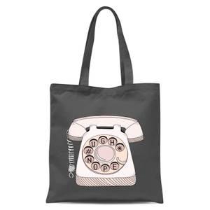 Phone Call Tote Bag - Grey