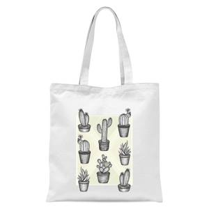 Prickly Friends Tote Bag - White