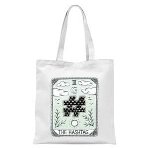 The Hashtag Tote Bag - White