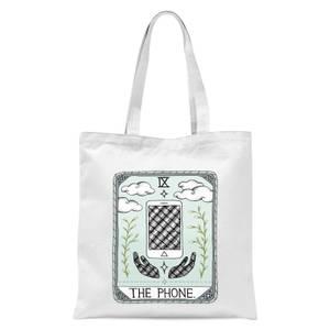 The Phone Tote Bag - White