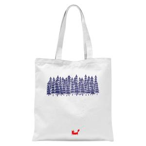 Alone In The Forest Tote Bag - White