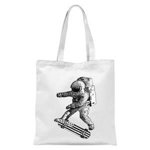 Kickflip In Space Tote Bag - White
