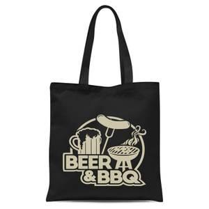 Beer & BBQ Tote Bag - Black