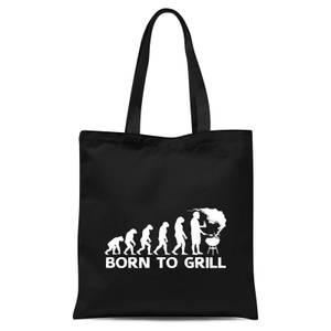 Born To Grill Tote Bag - Black