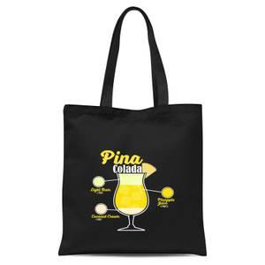 Infographic Pinacolada Tote Bag - Black