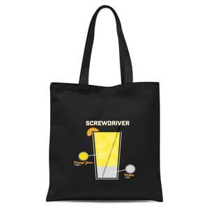 Infographic Screwdriver Tote Bag - Black