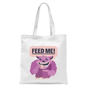 Feed Me Tote Bag - White