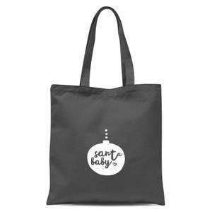 Christmas Santa Baby Bauble Tote Bag - Grey
