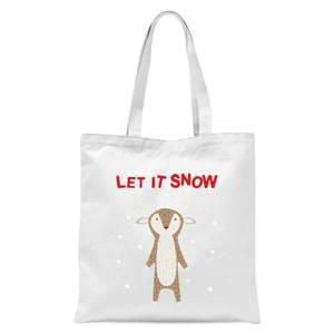 Let It Snow Tote Bag - White