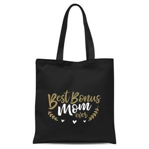 Best Bonus Mom Ever Tote Bag - Black