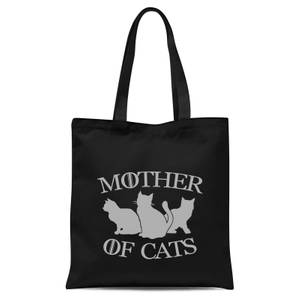 Mother Of Cats Black Tee Tote Bag - Black