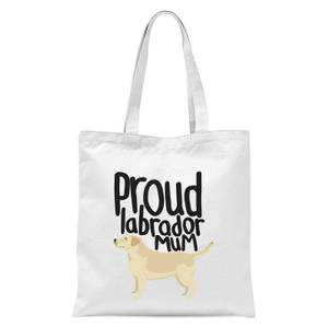 Proud Labrador Mum Tote Bag - White