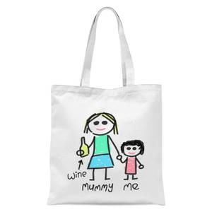 Mummy & Me Tote Bag - White