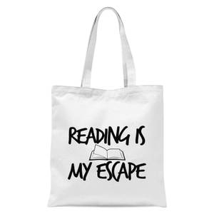 Reading Is My Escape Tote Bag - White